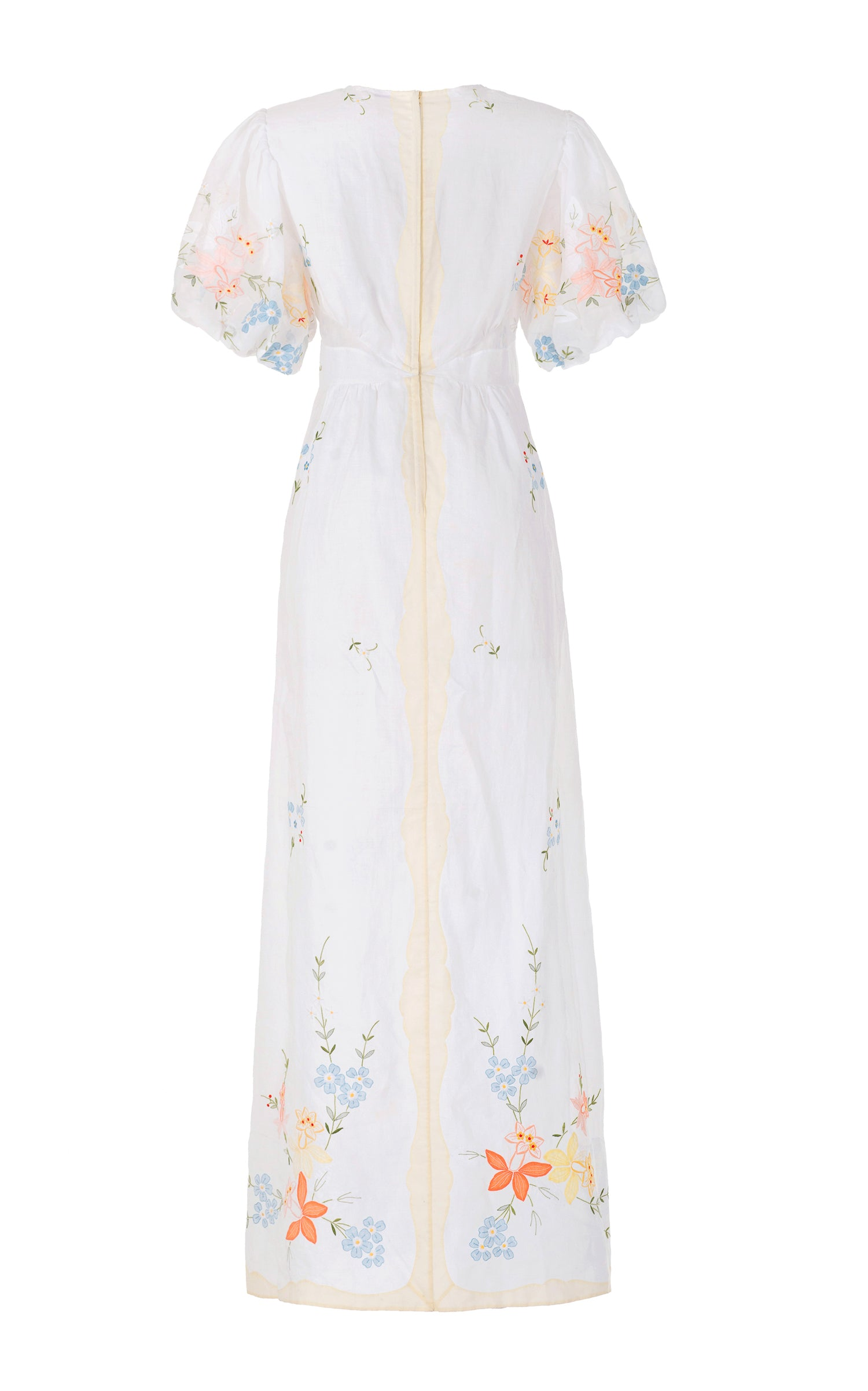 ancestor spirits dress in floral silk organza
