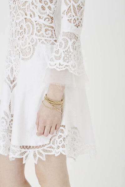 i am a lover white lace dress