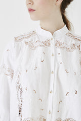 white cotton cluny lace shirt – nevenka