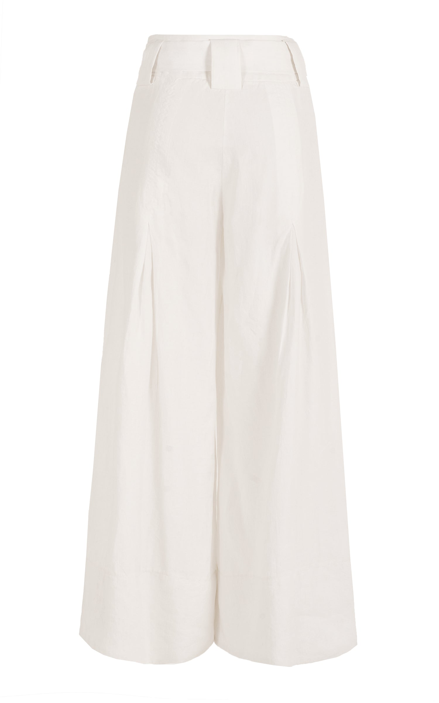 in the middle linen culotte