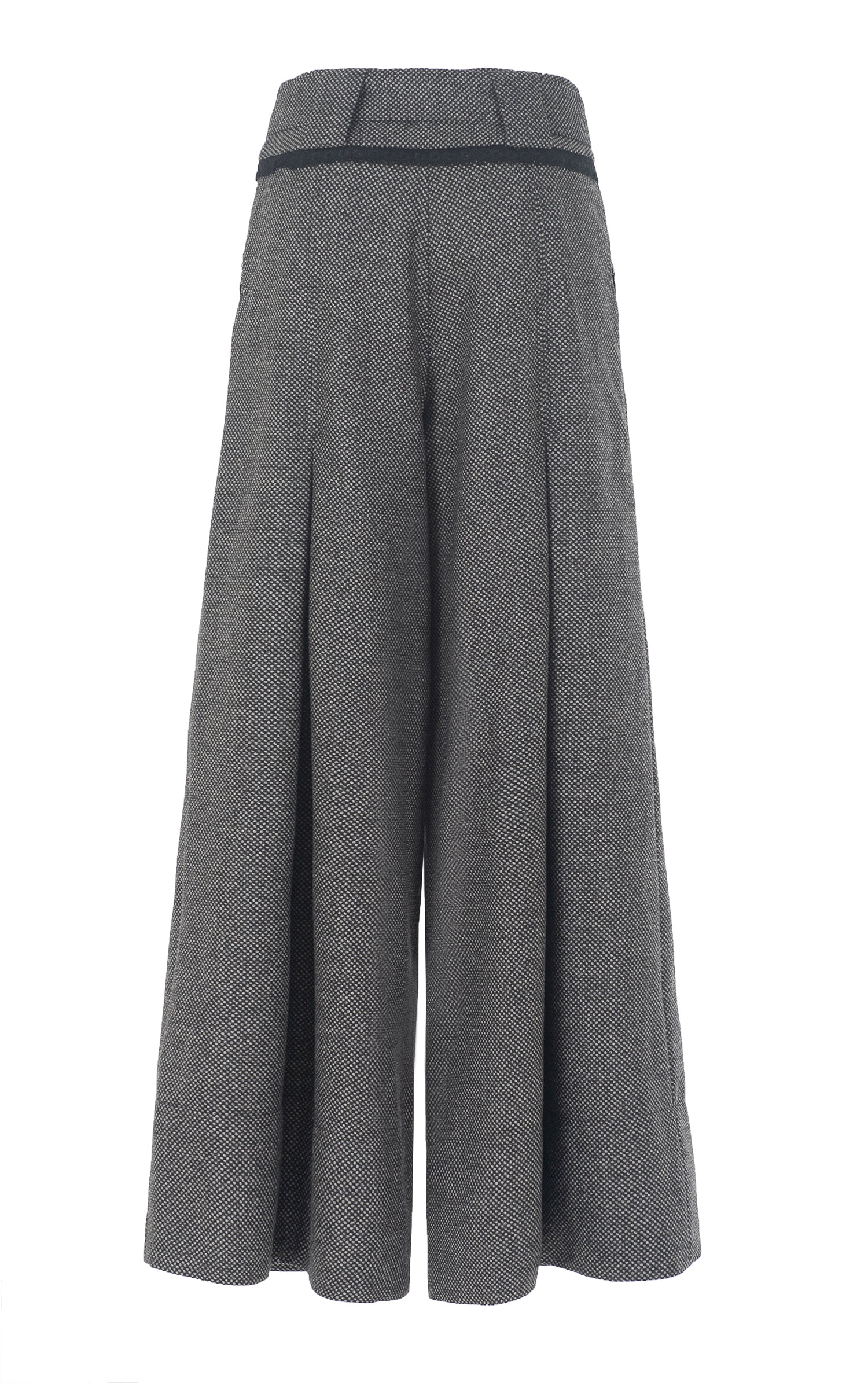 in the middle wool culotte
