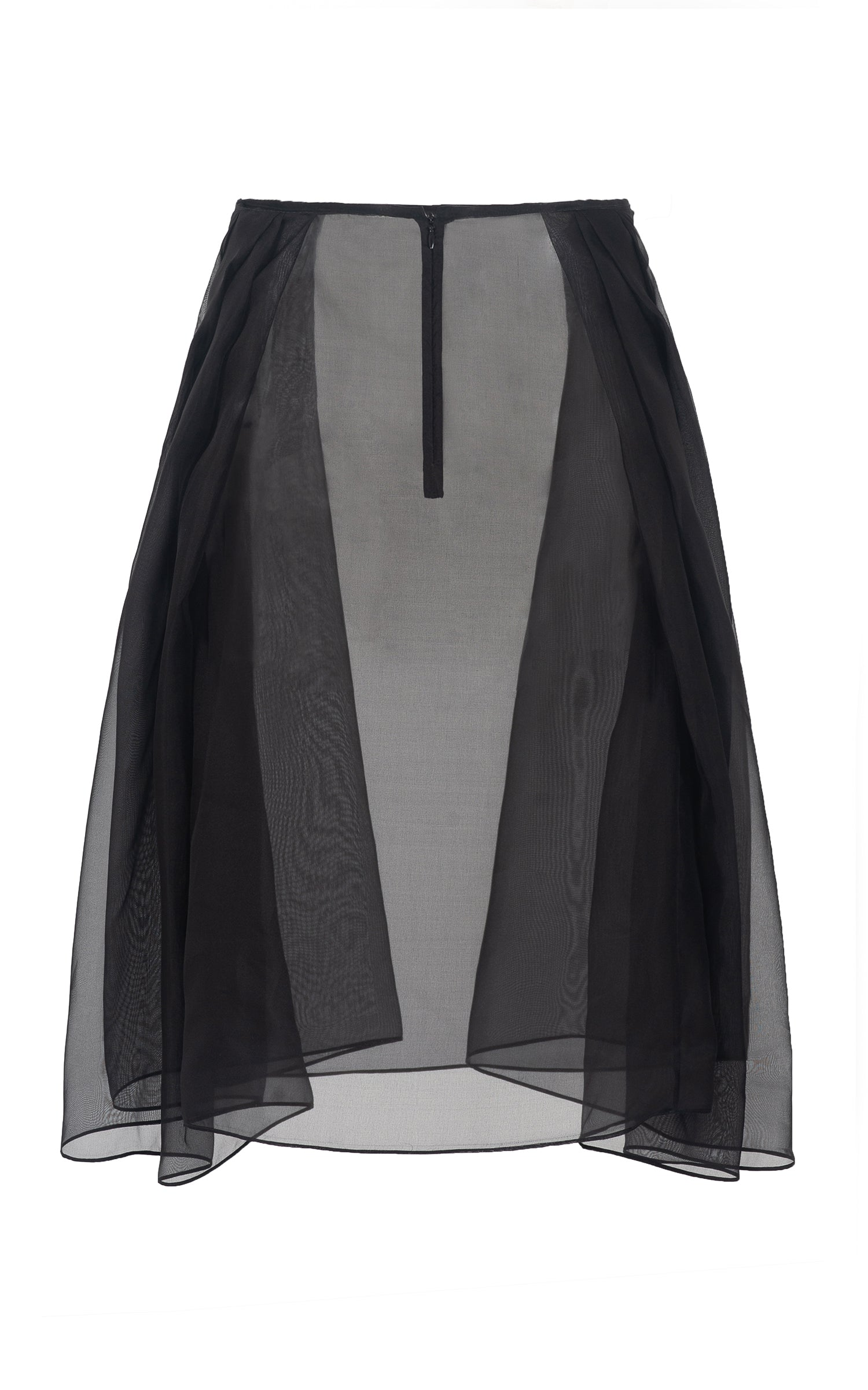 black silk organza - back
