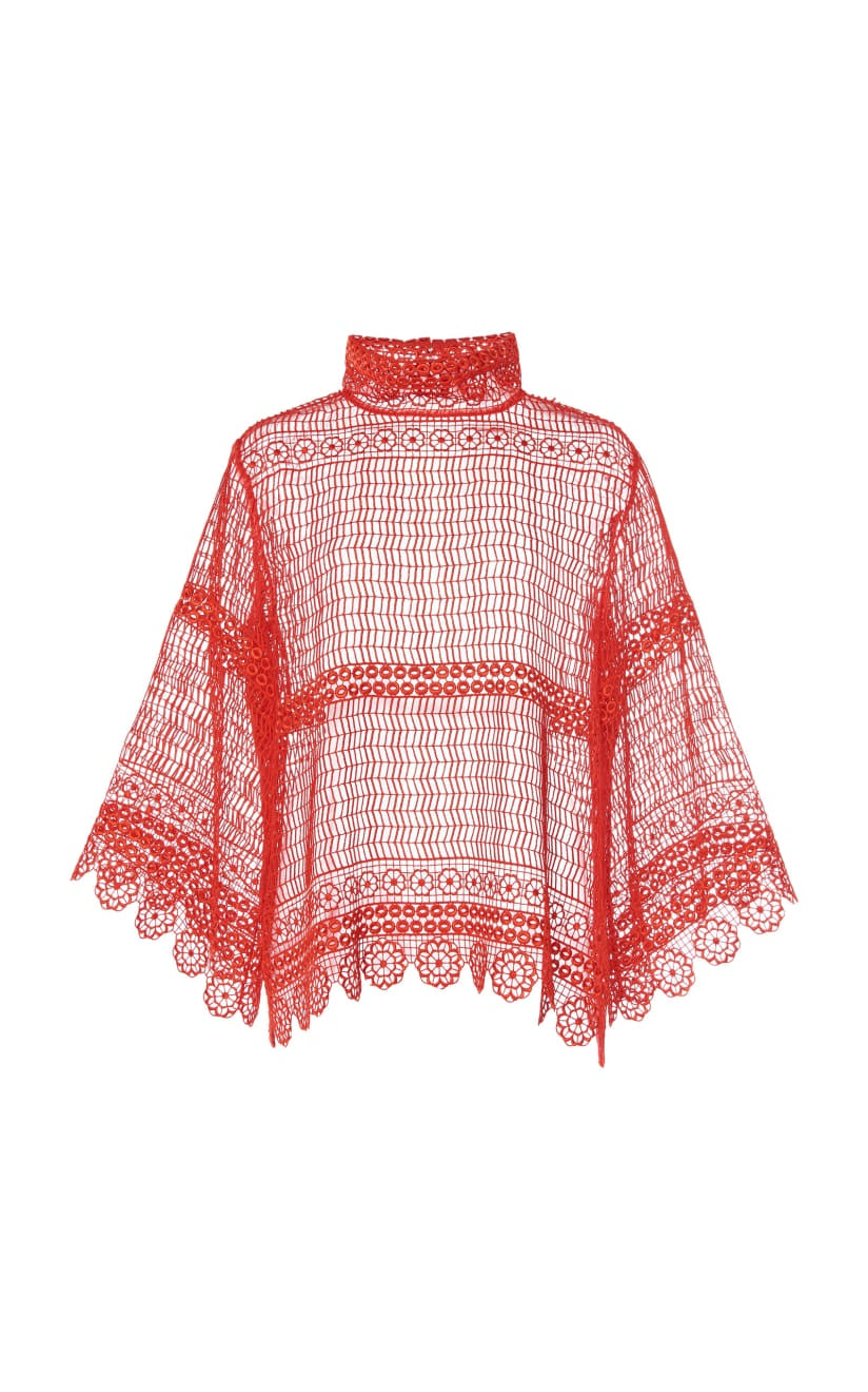 the silent circle top in red