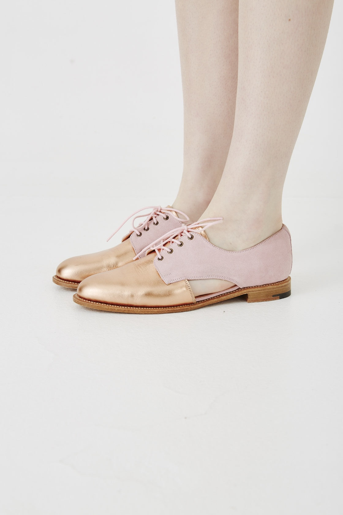 rose gold brogues