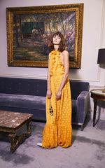 be part of the story dress in ochre