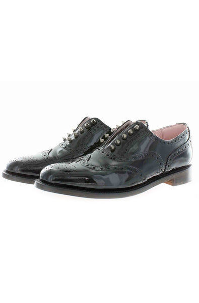 black patent brogues