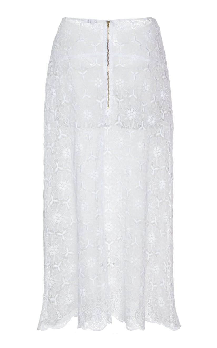 young blood skirt ivory