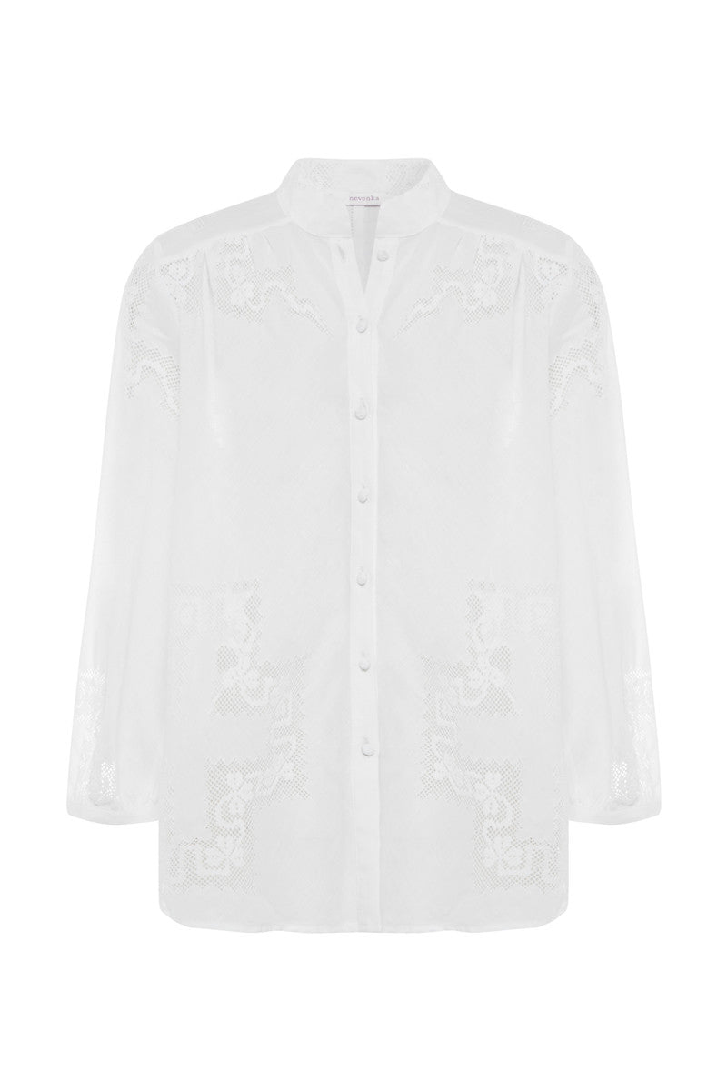 white linen shirt – nevenka