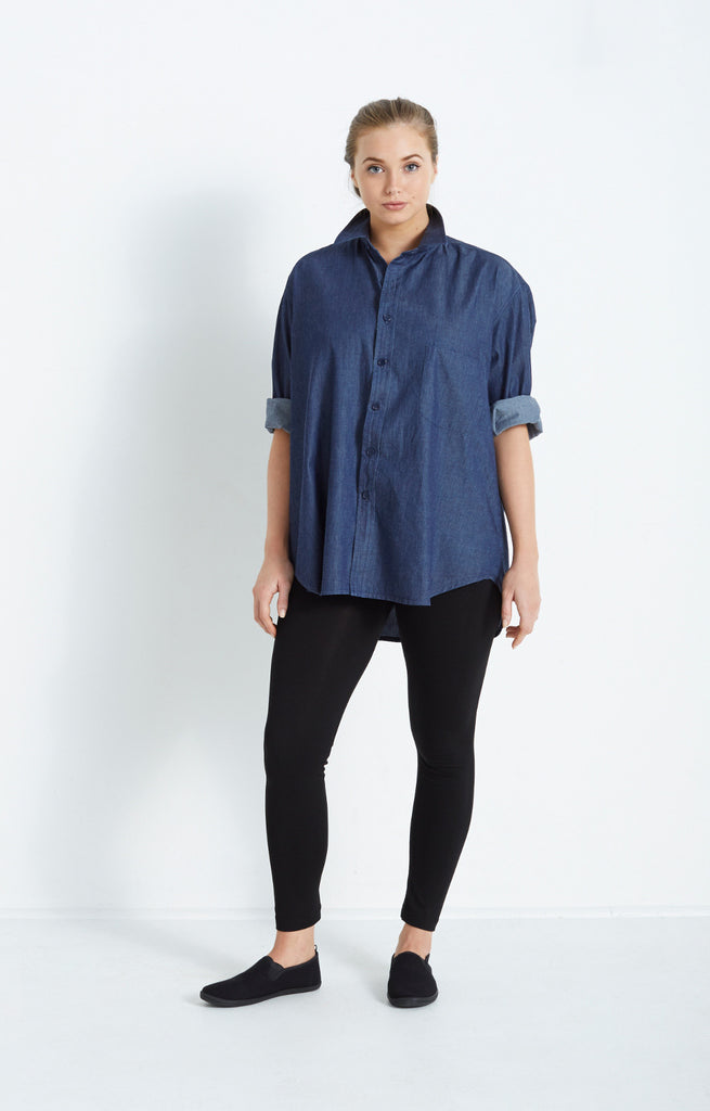BOYFRIEND SHIRT IN DENIM CHAMBRAY