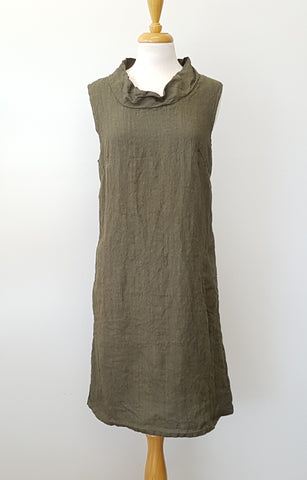CLASSIC A LINE JERSEY DRESS WITH 3/4 SLEEVES