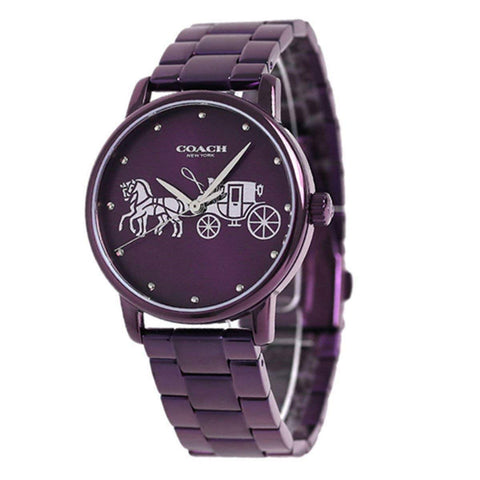 Coach Watch Grand Collection 14502923 Purple watch