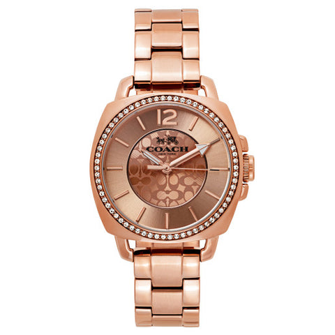 Coach Boyfriend Rose Gold Toned Watch 14503142