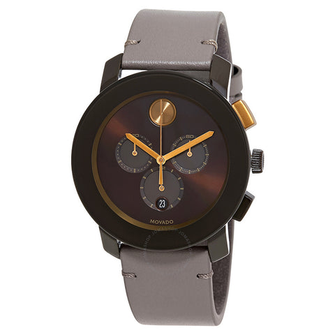 Movado Bold Brown Sunray Dial Men's Chronograph Watch