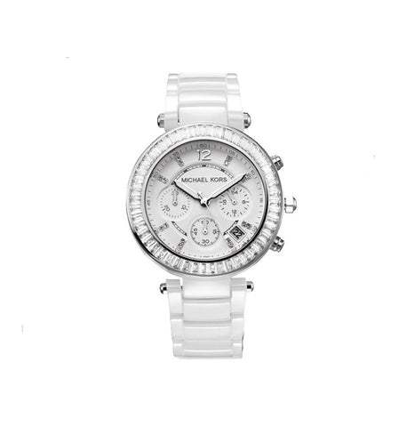 Michael Kors Parker White Glitz Dial Watch MK5848