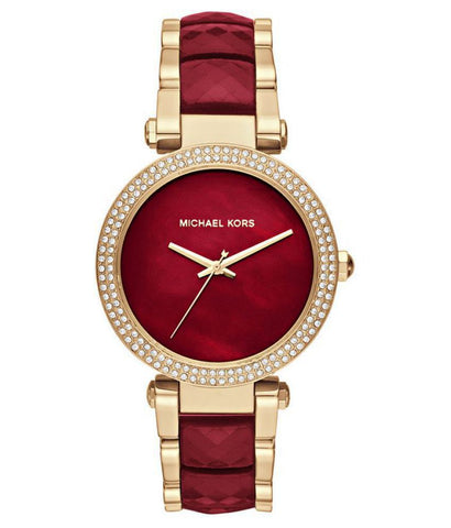 Michael Kors Parker Crystallized Red Bracelet Watch MK6427
