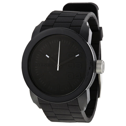 DIESEL Color Domination Black Dial Black Silicone Unisex Watch DZ1437 - Free Shipping -  Promenade Watches - 1