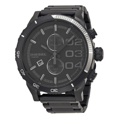 DIESEL Double Down Chronograph Black Dial Men's Watch DZ4326 - Free Shipping -  Promenade Watches - 1