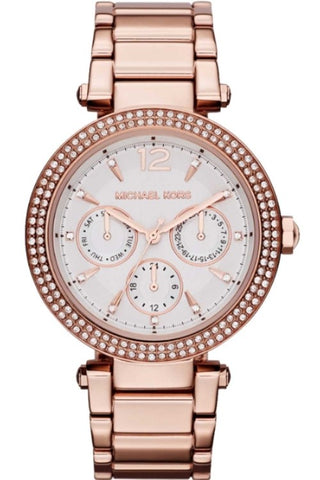 Michael Kors Parker Chronograph Rose Gold-Tone Ladies Watch MK5781
