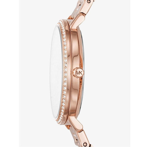 Michael Kors Women S Jaryn Pave Rose Gold Tone Watch Mk3865