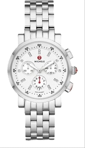 Michele Sport Sail Stainless Diamond Dial Watch  MWW01C000137