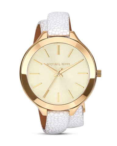 Michael Kors Slim Runway Gold Tone Dial Ladies Watch MK2477