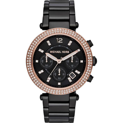 Michael Kors Parker Chronograph Black Dial Ladies Watch MK5885