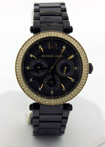 Michael Kors Gold/black Chronograph Women's Watch MK6390