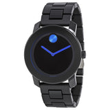Movado Bold 42 mm Black Dial TR90/Polyurethane Stainless Steel Men's Watch 3600099 - Free Shipping -  Promenade Watches - 1