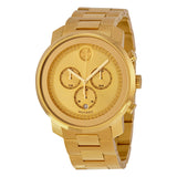 Movado Bold Champagne Dial Yellow Gold Ion-plated Men's Quartz Watch 3600278 - Free Shipping -  Promenade Watches - 1
