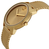 Movado Bold Gold Dial Gold Ion-plated Mesh Watch 3600242 - Free Shipping -  Promenade Watches - 2