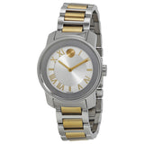 Movado Bold Quartz Silver Dial Two-tone Ladies Watch 3600245 - Free Shipping -  Promenade Watches - 1