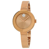 Movado Bold Rose Dial Rose Gold Ion-plated Ladies Watch 3600202 - Free Shipping -  Promenade Watches - 1