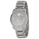 Movado Bold Silver Crystal Pave Dial Stainless Steel Ladies Watch 3600254 - Free Shipping -  Promenade Watches - 1