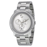 Movado Bold Silver Dial Stainless Steel Case and Band Men's Quartz Watch 3600276 - Free Shipping -  Promenade Watches - 1
