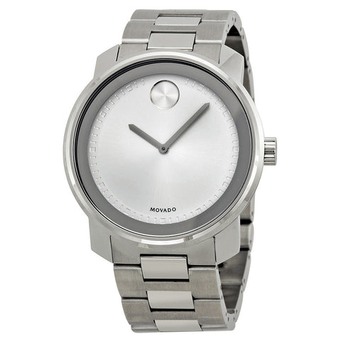 Movado Bold Silver Dial Stainless Steel Men's Watch 3600257 - Free Shipping -  Promenade Watches - 1