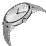 Movado Bold Silver Dial Stainless Steel Mesh Men's Watch 3600260 - Free Shipping -  Promenade Watches - 2