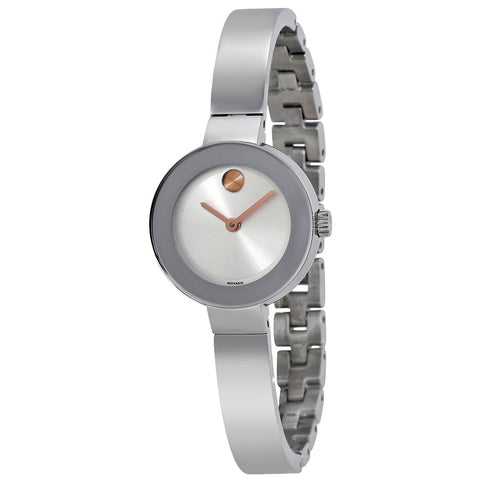 Movado Bold Silver Sunray Dial Stainless Steel Quartz Ladies Watch 3600284 - Free Shipping -  Promenade Watches - 1