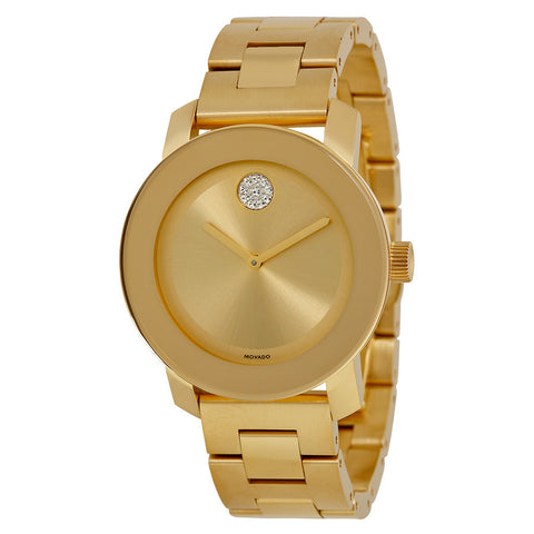 Movado Bold Yellow Gold Ion Plated Stainless Steel Unisex Watch 3600104 - Free Shipping -  Promenade Watches - 1