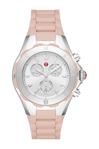 MICHELE Pink Tahitian Jelly Bean Watch MWW12F000089
