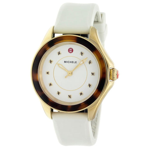 Michele Cape Ivory Gold, Tort Topaz Dial Watch MWW27A000030