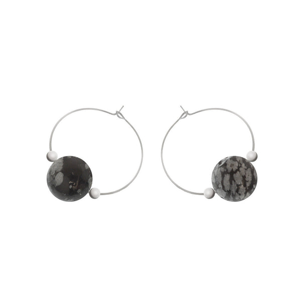 'Alia' Stone Earrings - Studio Luna