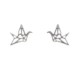 'Origami Crane' Stud Earrings - Studio Luna