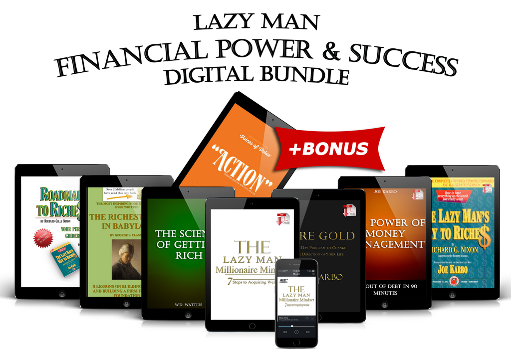 Lazy Man SUCCESS with FINANCIAL POWER Digital Bundle