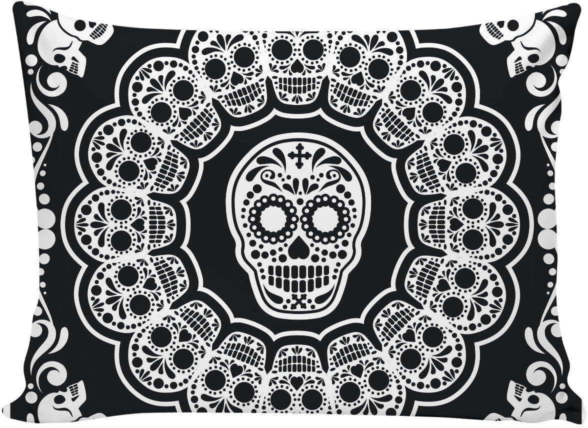 Bandana Sugar Skull Pillow Case