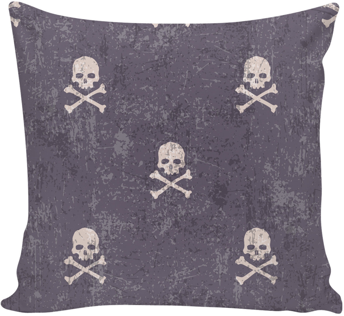 I'm Distressed Skull and Cross Bones Pillow
