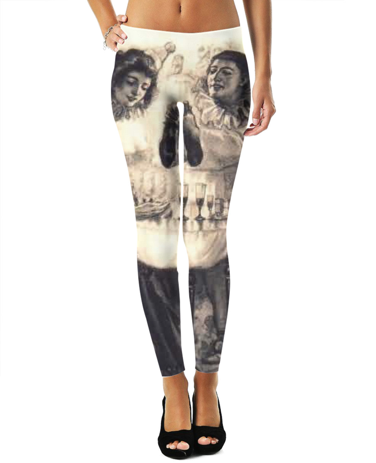 Skull Illusion Leggings