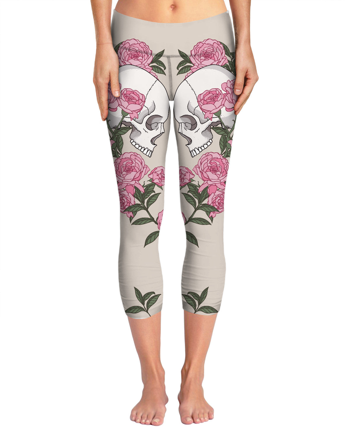 Skulls and Roses Yoga Pants