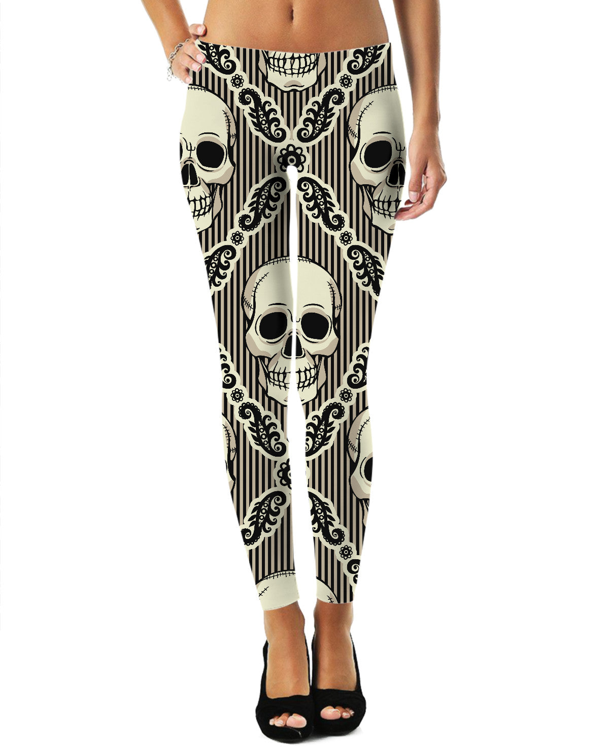 Diamond Tiled Skull Leggings