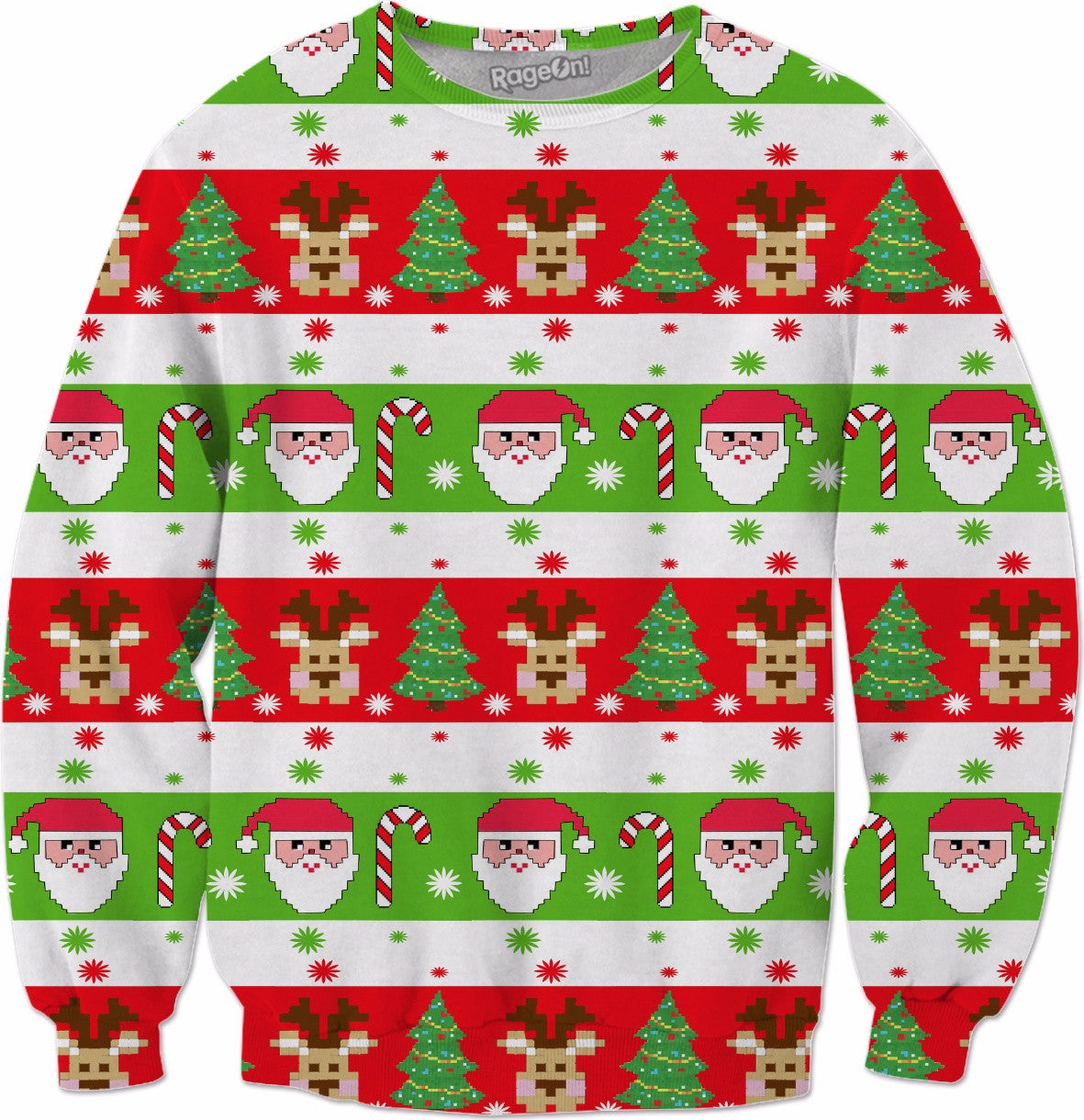 Christmas Pattern Crewneck Sweatshirt v1