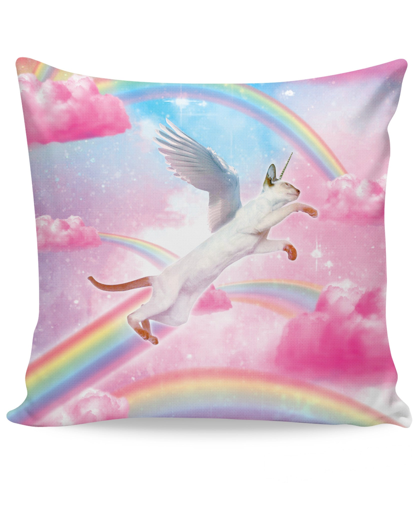Fly High Kitty Couch Pillow